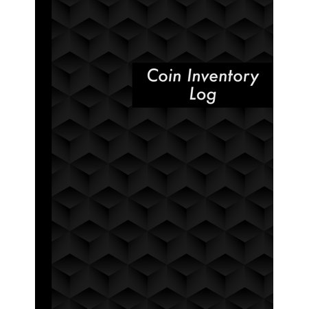 Coin Inventory Log: Black Coin Collectors Inventory Log Book - 120 Pages - Coin Collection Catalog Journal (Paperback) ()