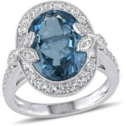 Tangelo 7-7/8 Carat T.g.w Blue And White