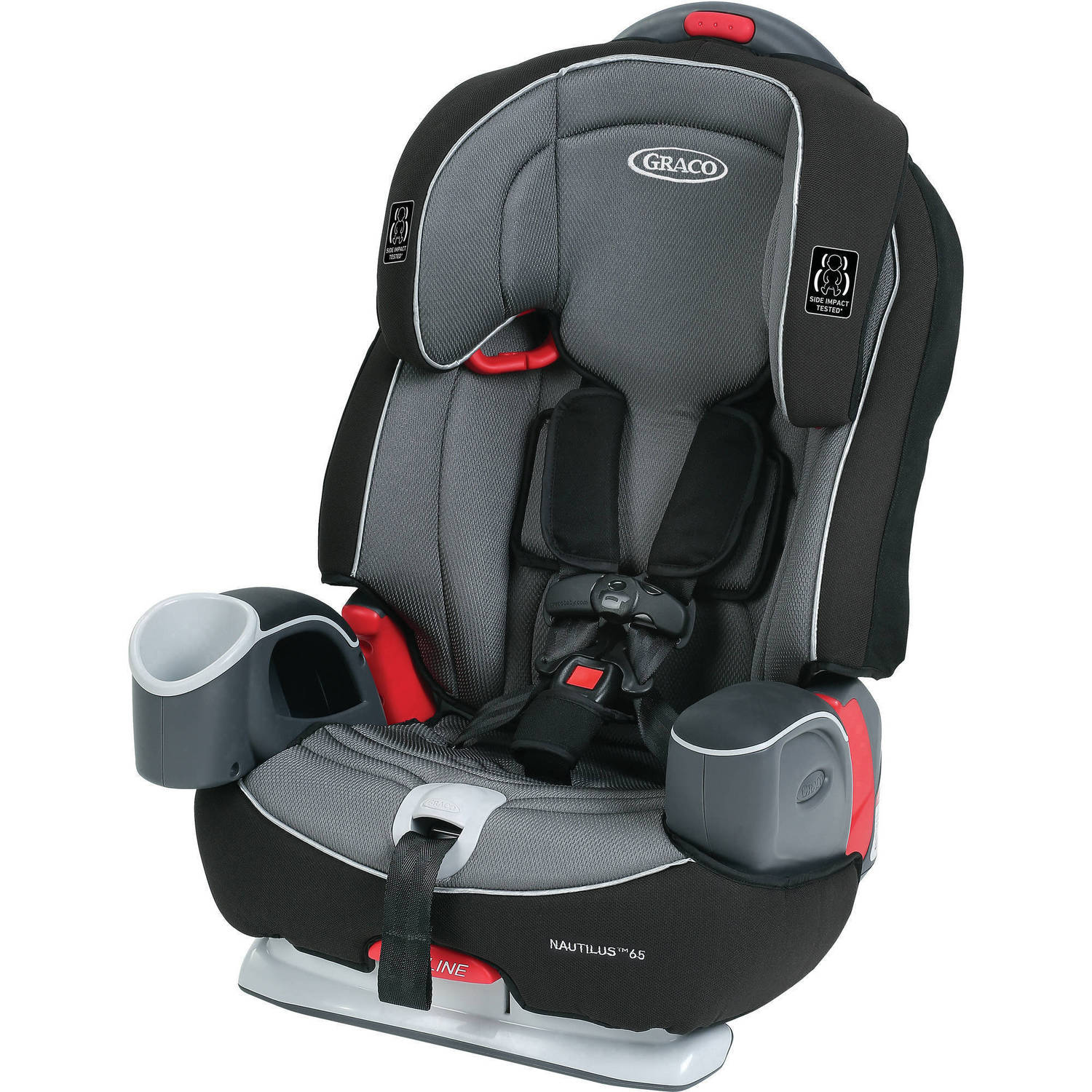 Graco Nautilus 65 3-in-1 Multi-Use Convertible Harness Booster Car Seat, Bravo
