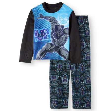 Black Panther Boys' Poly Long Sleeve 2-Piece Pajama Set