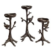 San Pacific International Twig & Bird Pillar Candleholder