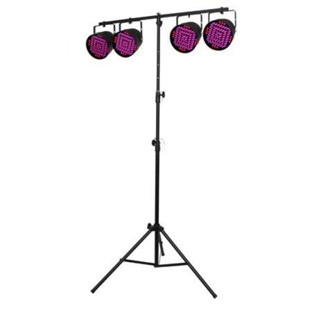 Complete Light System with 4 LED Par Cans, Stand and Cables - Par Cans Stand