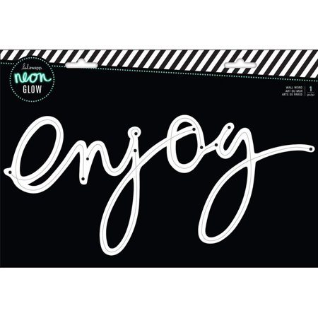 Custom Lighted Signs (314221 Enjoy Wall Word, Multicolor, CUSTOMIZABLE: Create custom signs to fit your vibe with other Heidi Swapp Neon Lights products (each sold separately) By Heidi Swapp)