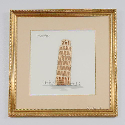 Old Modern Handicrafts Leaning Tower of Pisa Framed Graphic Art by Old Modern Handicrafts
