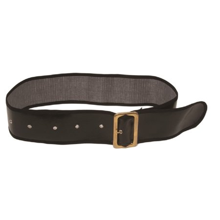 Santa Claus Pirate Belt Wide Black Gold Christmas Adult Costume Accessory