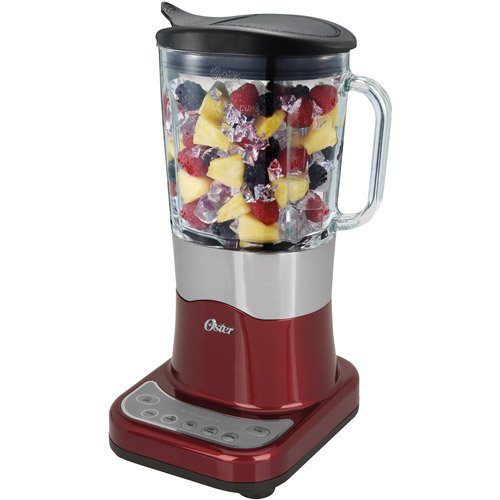 Oster Liquefy Blend 200 Blender with Easy Pour Pitcher, Metallic Red, BLSTDG-R00-000