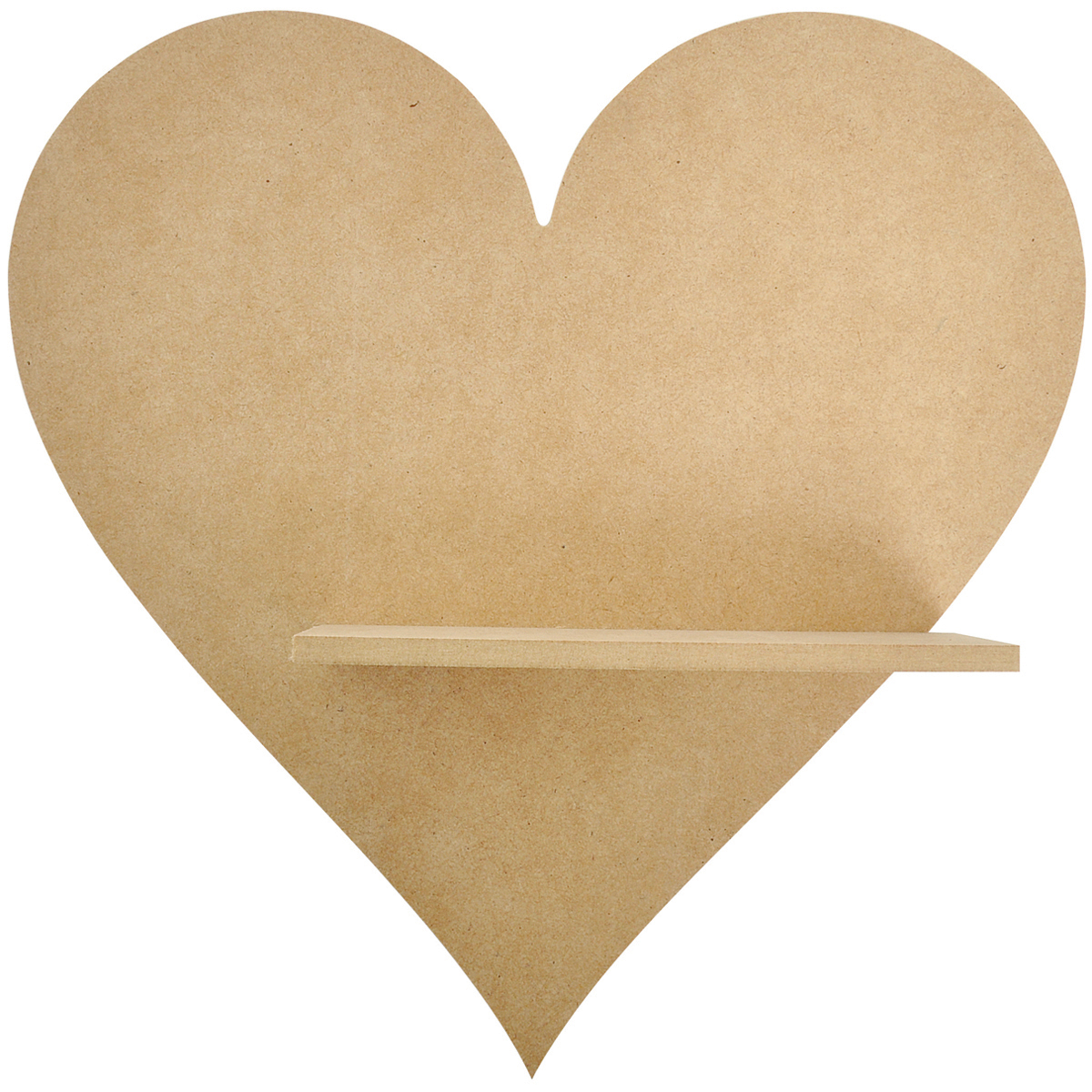 "Beyond The Page MDF Heart Shelf-11""X11""X2.75"""