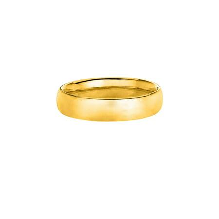 14K Yellow Gold Men's Women's 5MM Comfort Fit Wedding Band Wedding Ring Size 12