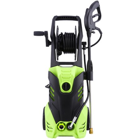 Electric Pressure Washer,2200PSI 1.7GPM Washer Soap Cleaner, (5) Nozzle Adapter,with 10m Longer Cables and Cable Reel,Hoses and Detergent Tank,for Cleaning Car, Houses Driveways, Patios,and