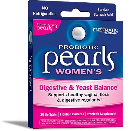 Probiotic Pearls Womens for Digestive and Yeast Balance 1 Billion Cultures 30 Count
