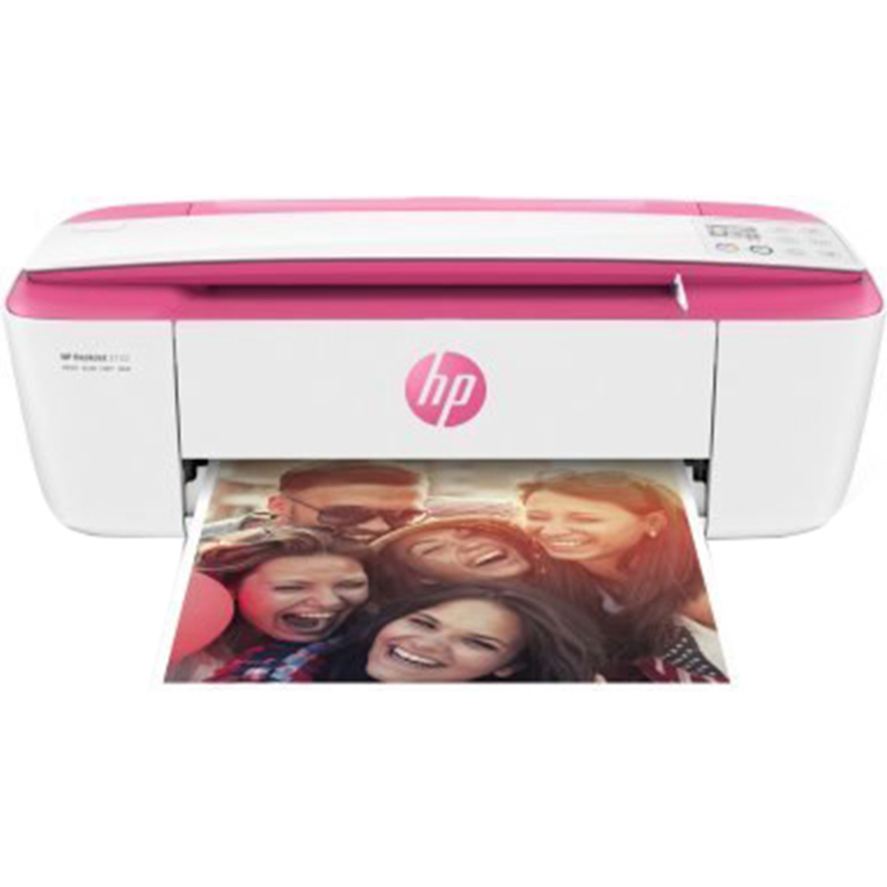 Refurbished HP 3755 All-in-One Color Ink Jet Printer, Pink