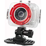 Polaroid XS9 HD 720p 5MP Waterproof Sports Action Camera with LCD Touch Screen, Laser & LED Light - Mounting K (Polaroid Sports Camera)