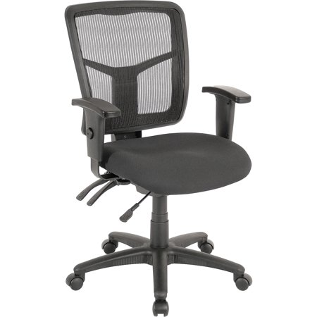 Lorell, ErgoMesh Series Managerial Mid-Back Chair, 1 / Each