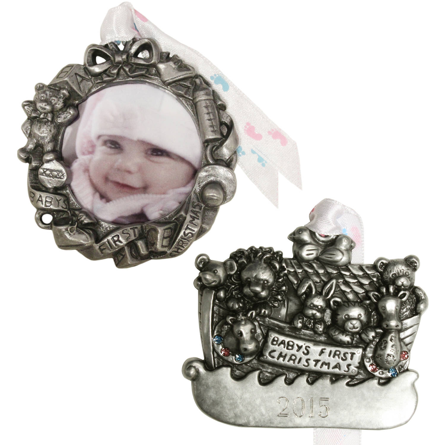 Personalized Gloria Duchin 2pc Baby's First Ornament Gift Set
