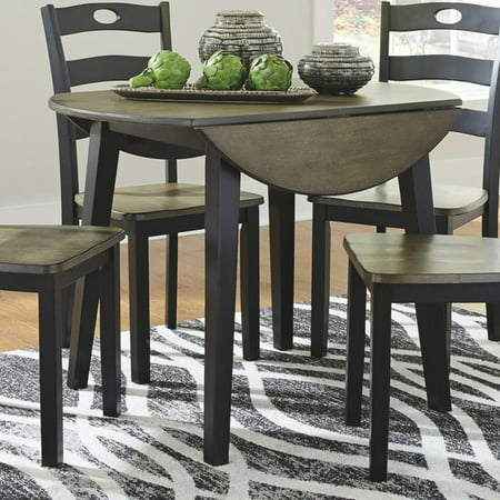 Signature Design by Ashley Froshburg Round Drop Leaf Dining Table