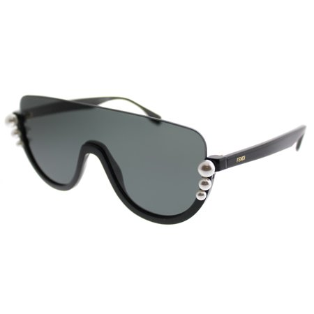 Fendi Ribbons And Pearls FF 0296 807 IR Womens Shield Sunglasses