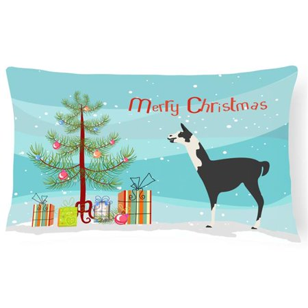 carolines treasures bb9285pw1216 llama q ara christmas canvas fabric decorative pillow