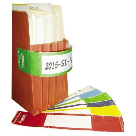 Tabbies File Pocket Handles, 9-5/8 x 2, Yellow/White, 48/Pack -TAB68801