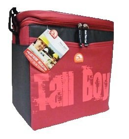Igloo Tall Boy Insulated Cooler, Holds Approx. 9 Cans, Made With Polartherm Insulation, (RED)