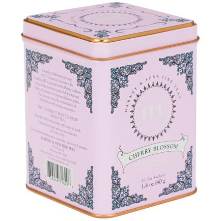Harney & Sons, Cherry Blossom, Green Tea with Cherry Flavor, 20 Ct