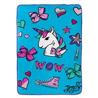 Nickelodeon JoJo Siwa Plush Kid's Bedding Blanket, 1 Each