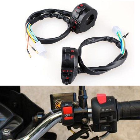 Hilitand Motorcycle Handlebar Horn High/Low Beam Turn Signal Switch Control Left Right Side, Motorcycle Handlebar Switch Control, Handlebar Switch Control
