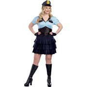 Women's Plus Size Adult Police Officer Halloween Costume, 2X