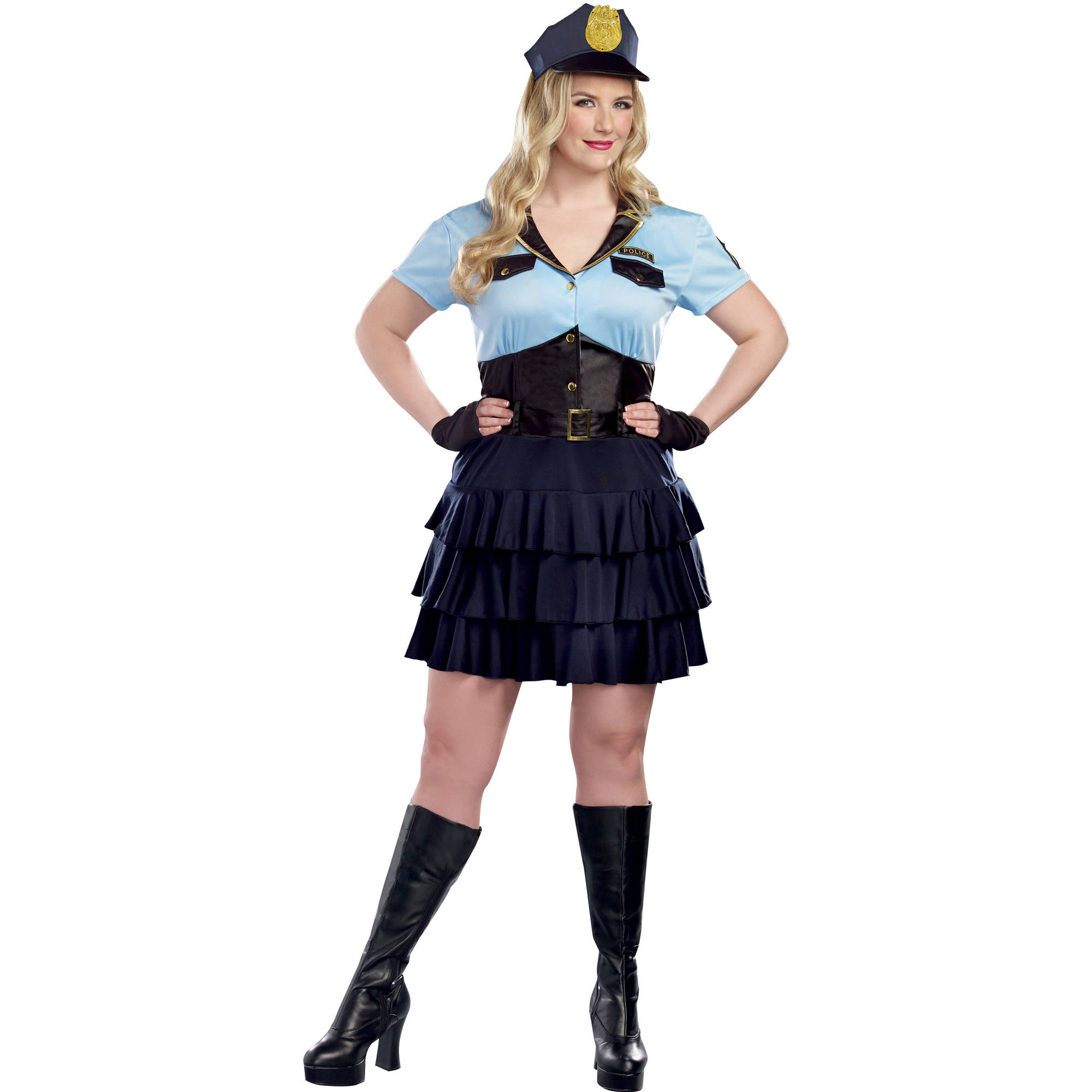 police officer women's plus size halloween costume - walmart