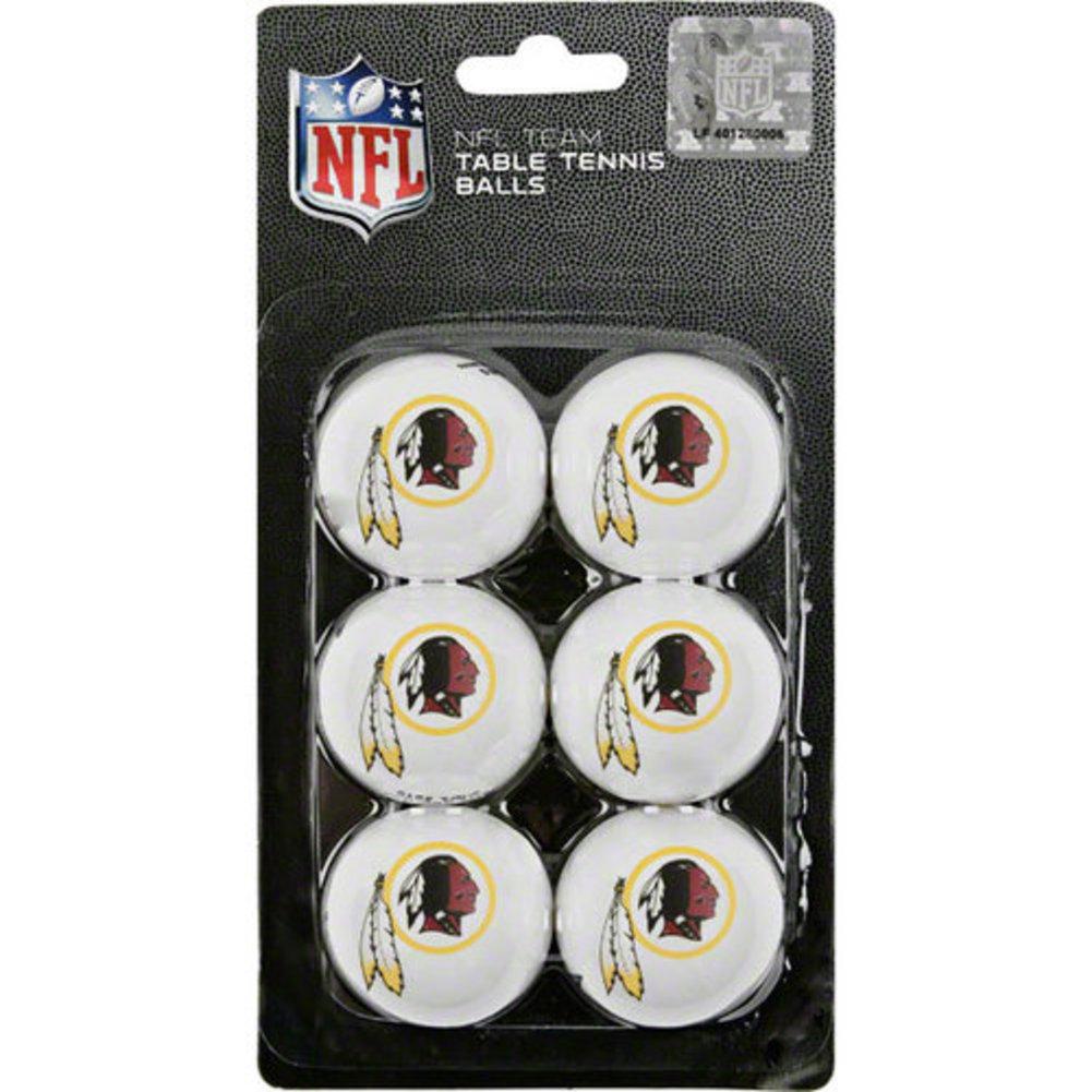 Franklin NFL Washington Redskins 6-Pack Table Tennis Balls