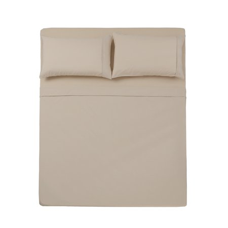 3 PC TWIN SHEET SET MICROFIBER SOLID IVORY -SERIES 1400-