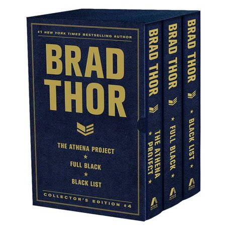 Brad Thor Collectors Edition #4: The Athena Project, Full Black, and Black List by