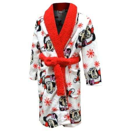 Disney's Minnie Mouse Christmas Plush Toddler Robe - Christmas Robe