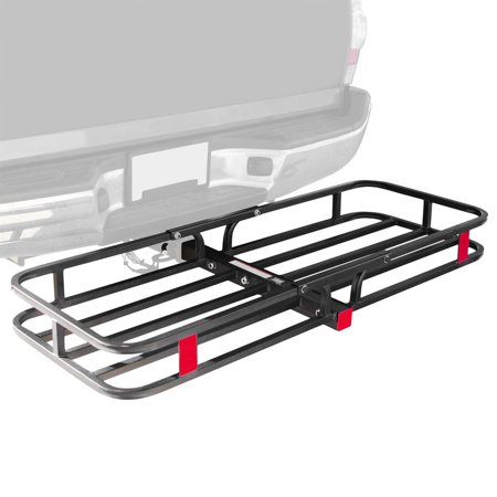"""53"""" Hitched Mounted Steel Cargo Carrier Basket with a 500 lb. Capacity"""