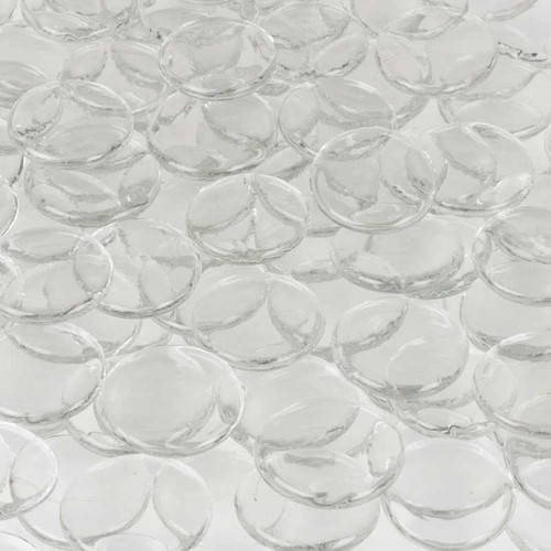 Wholesalers USA 5 lbs of  Glass Wafer in Clear