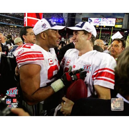 Eli Manning   Michael Strahan 2007 Super Bowl Xlii Photo Print
