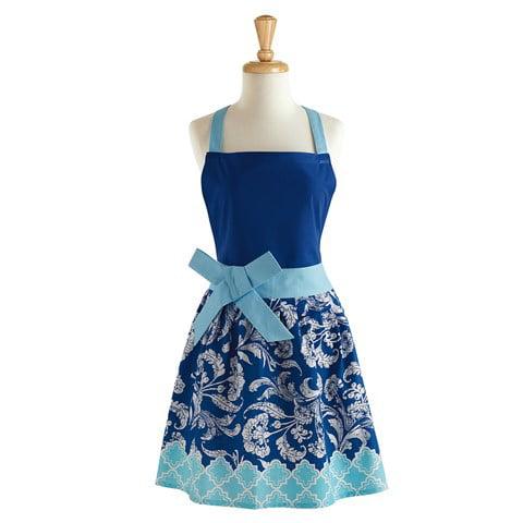 Design Imports 26764 Blues Riviera Floral Apron