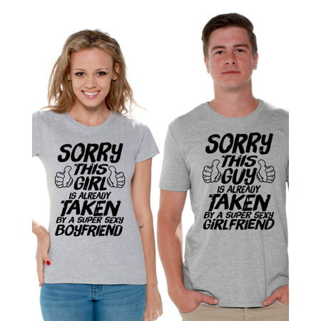 b601e219ac ... Is Already Taken Couple Shirts Super Sexy Boyfriend Shirt Super Sexy  Girlfriend T Shirts for Couples Funny Matching Couple Shirts Valentine's  Day Gifts