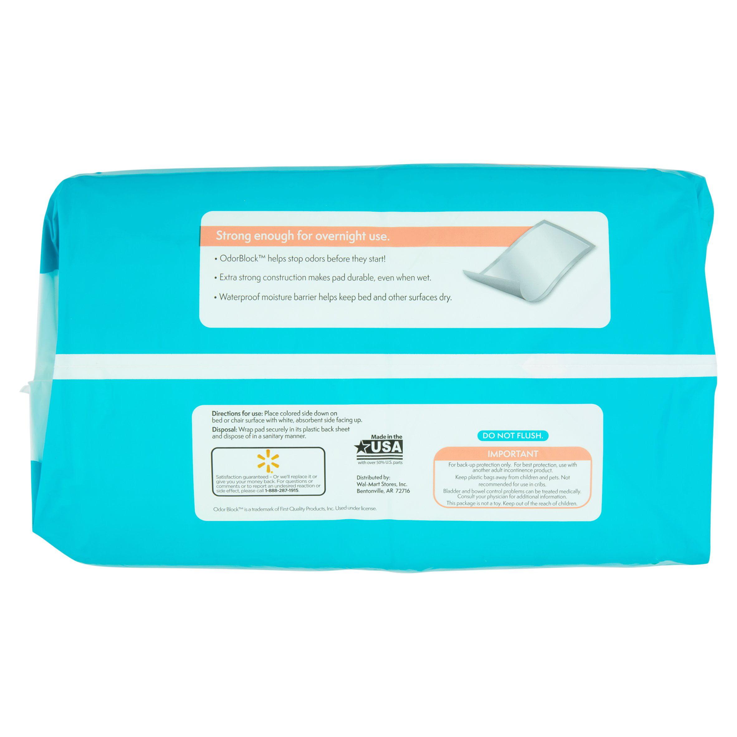 assurance incontinence pads unisex maximum xl 20 ct walmart com