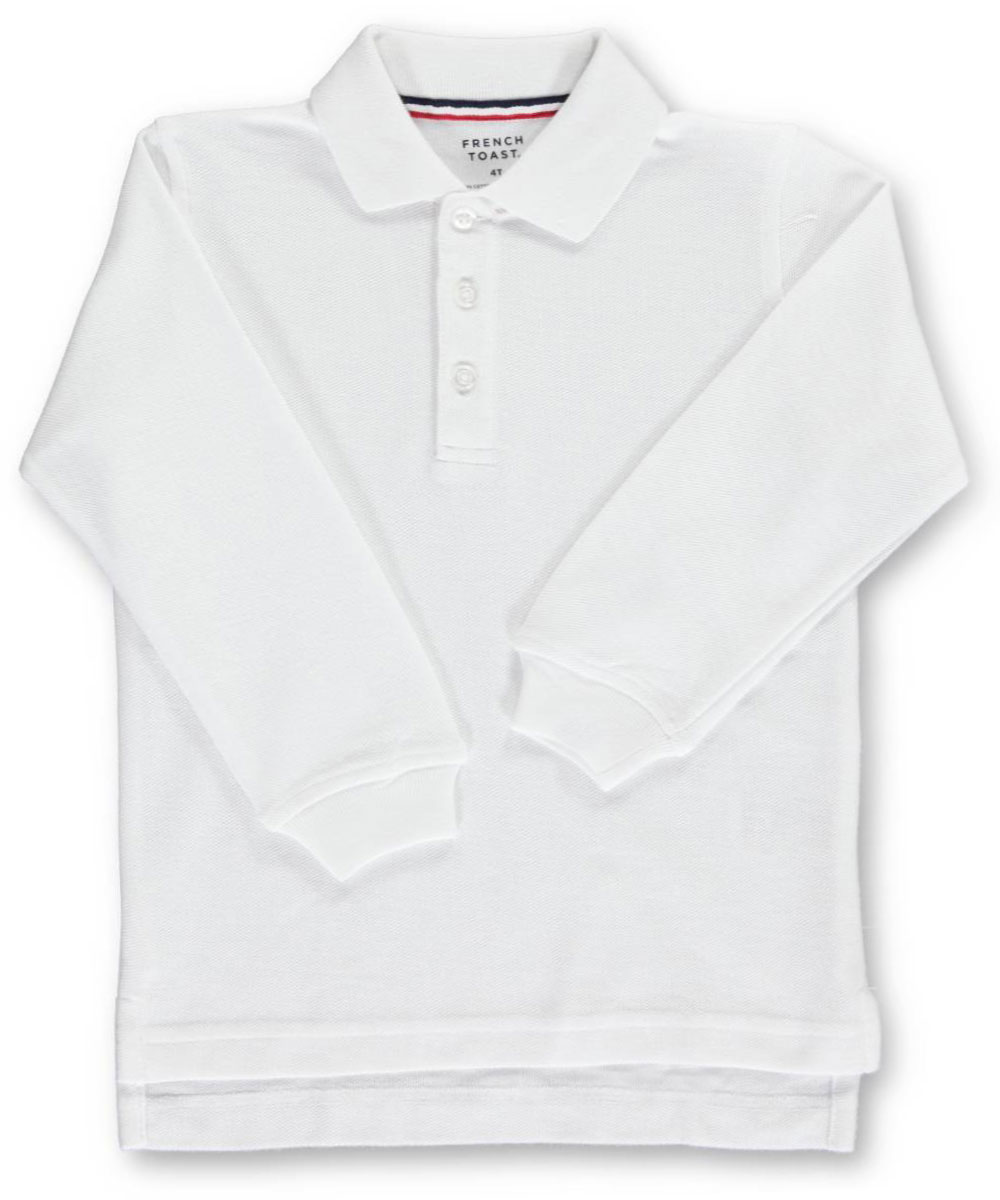 French Toast Unisex L/S Pique Polo (Sizes 4 - 7)
