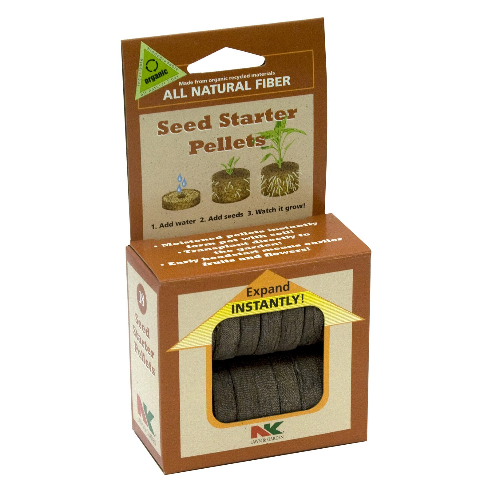"Plantation Products P703 1.75"" Seed Starter Pellet Refill, 18 Count"