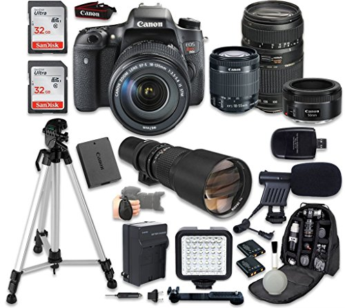 Canon EOS Rebel T6s 24.2MP Digital SLR Camera with EF-S 18-55mm f 3.5-5.6 IS STM, Tamron Auto Focus 70-300mm f... by