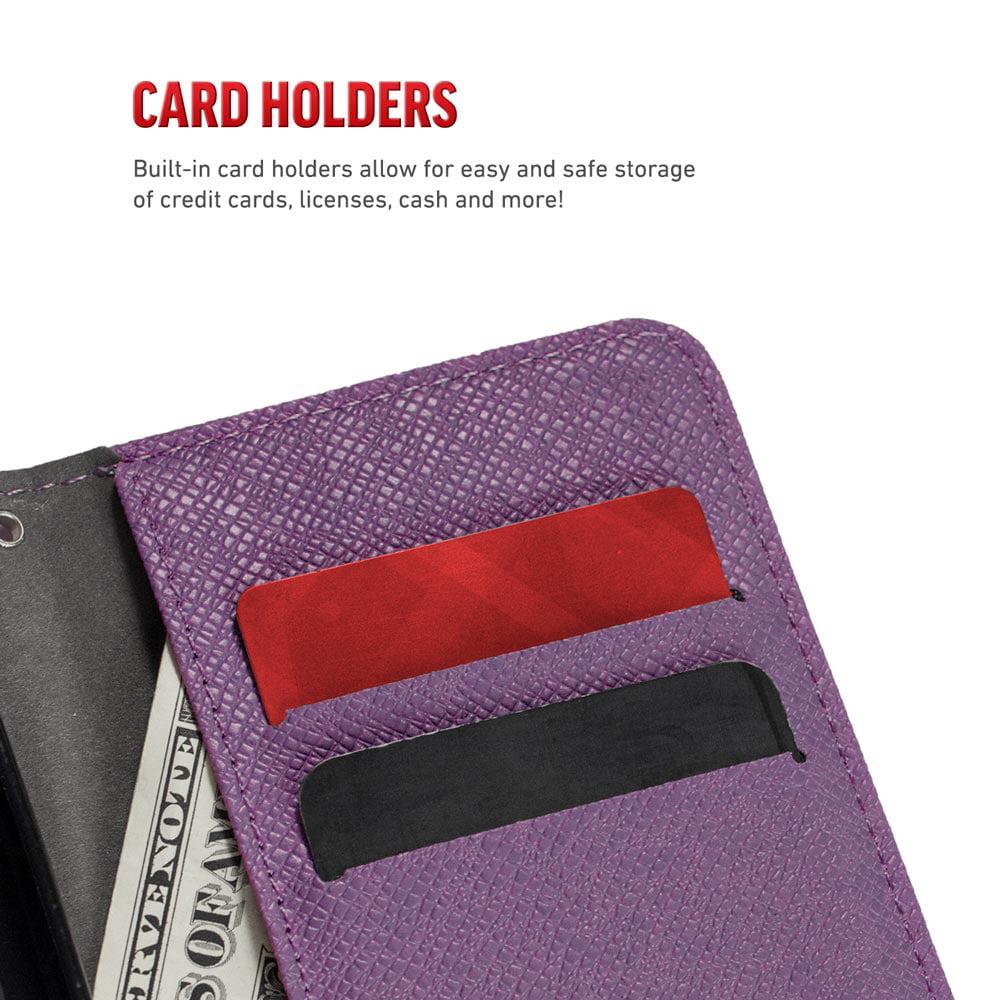Zizo Zipper Wallet Case for Apple iPhone 8 Plus and iPhone 7 Plus, Black