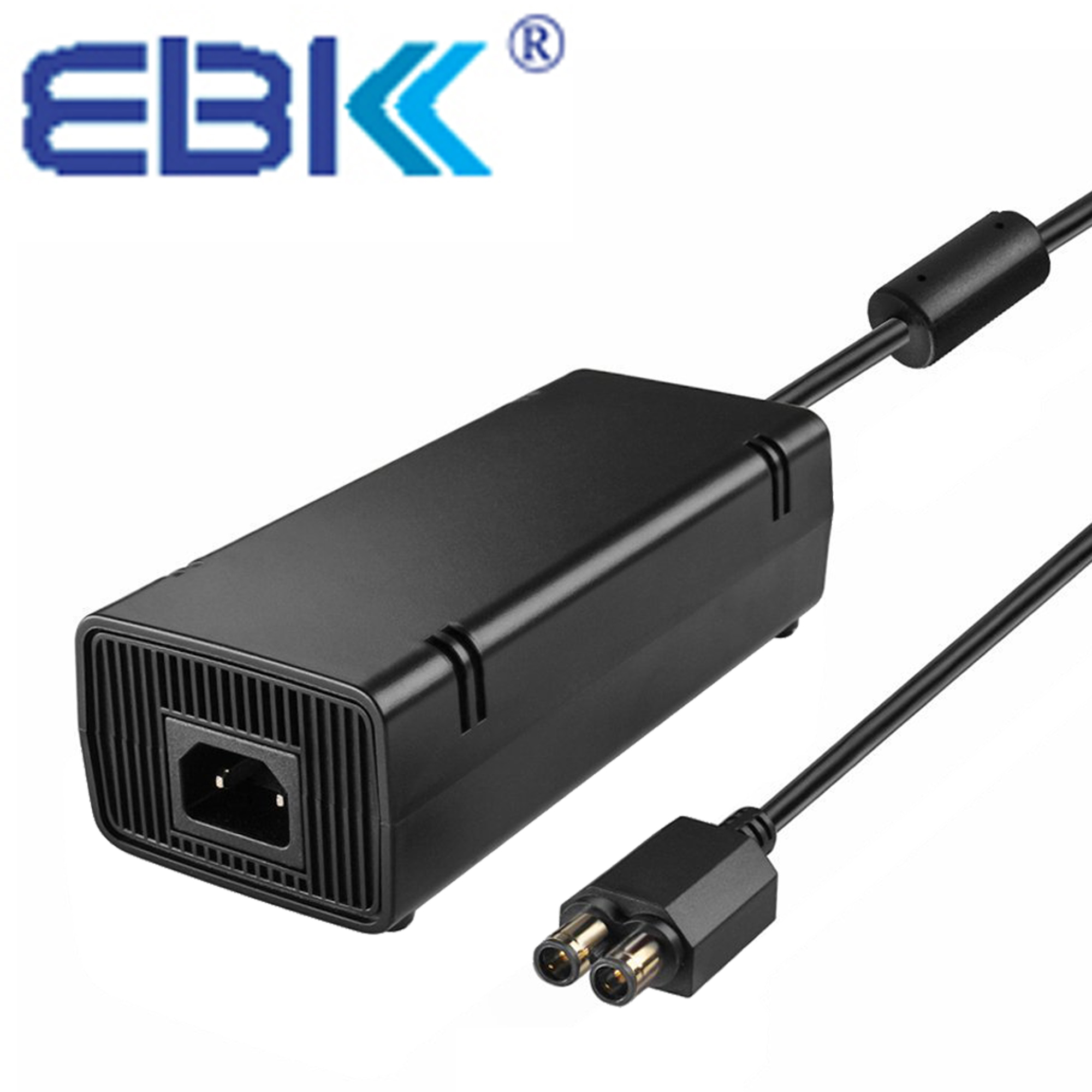 EBK New Upgraded Power Supply Brick For Microsoft Xbox 360 X360 Slim console AC Adapter Wall Charger with Power Cable Cord