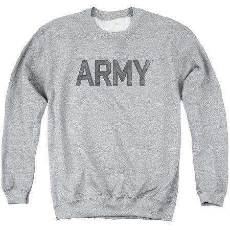 - ARMY United States Army Classic Distressed Block Logo Adult Crewneck Sweatshirt