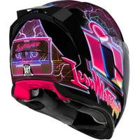 Icon Airflite Synthwave Motorcycle Helmet Purple