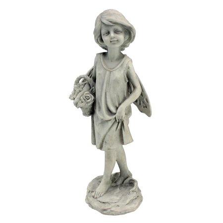 Design Toscano Rose Garden Fairy with Basket Statue