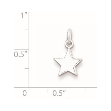 925 Sterling Silver Star (10x15mm) Pendant / Charm - image 1 of 2