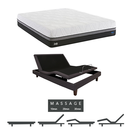 """Conform Premium 13.5"""" Twin XL Size Ultra Plush Mattress and Adjustable Base with Massage Feature Sealy Conform... by Sealy"""