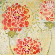 Marmont Hill Orange Floral Painting Print On Canvas