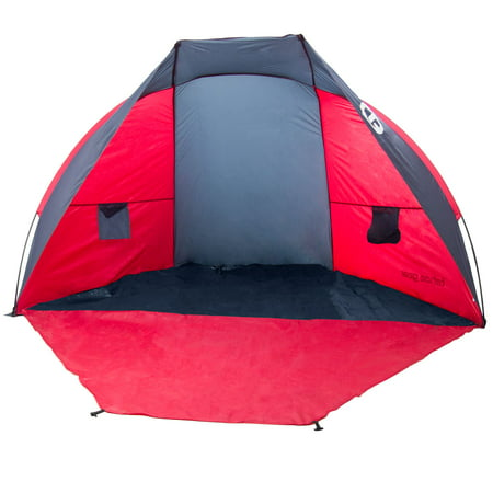Tahoe Gear Cruz Bay Summer Sun Shelter and Beach Shade Tent Canopy, Coral (Best Baby Beach Gear)